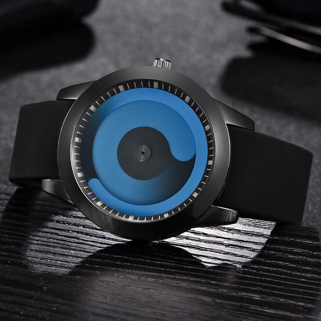 XINEW Brand Watches Mens Women Rubber Strap Clock Fashion Round Dial Gifts Future Quartz Wrist Watch Cheap Creative Relojes 2139