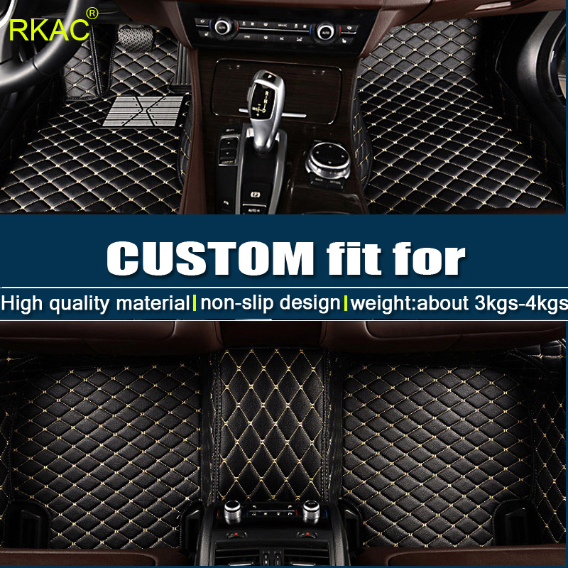 LHD For Ford Focus 2 3 2005 2006 2012 2013 2014 2016 2017 2018 Car Floor Mats Covers Leather Interior Auto Rugs Floor Mat Pads