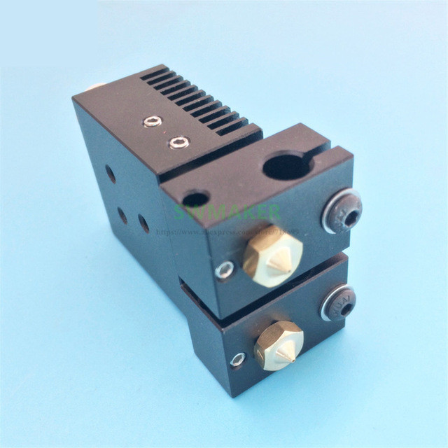 Neue Chimäre Plus + Dual Extrusion kopf 2 in 2 out V6 PT100 hotend kit 1 75mm 0 4mm für 3D drucker teile hohe qualität-in 3D Druckerteile & Zubehör aus Computer und Büro bei