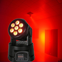 Full Color RGBW 4in1 moving head Wash Light 7x12W LED DMX Wash Moving Head Lights DJ Disco party Concert Event Show stage light