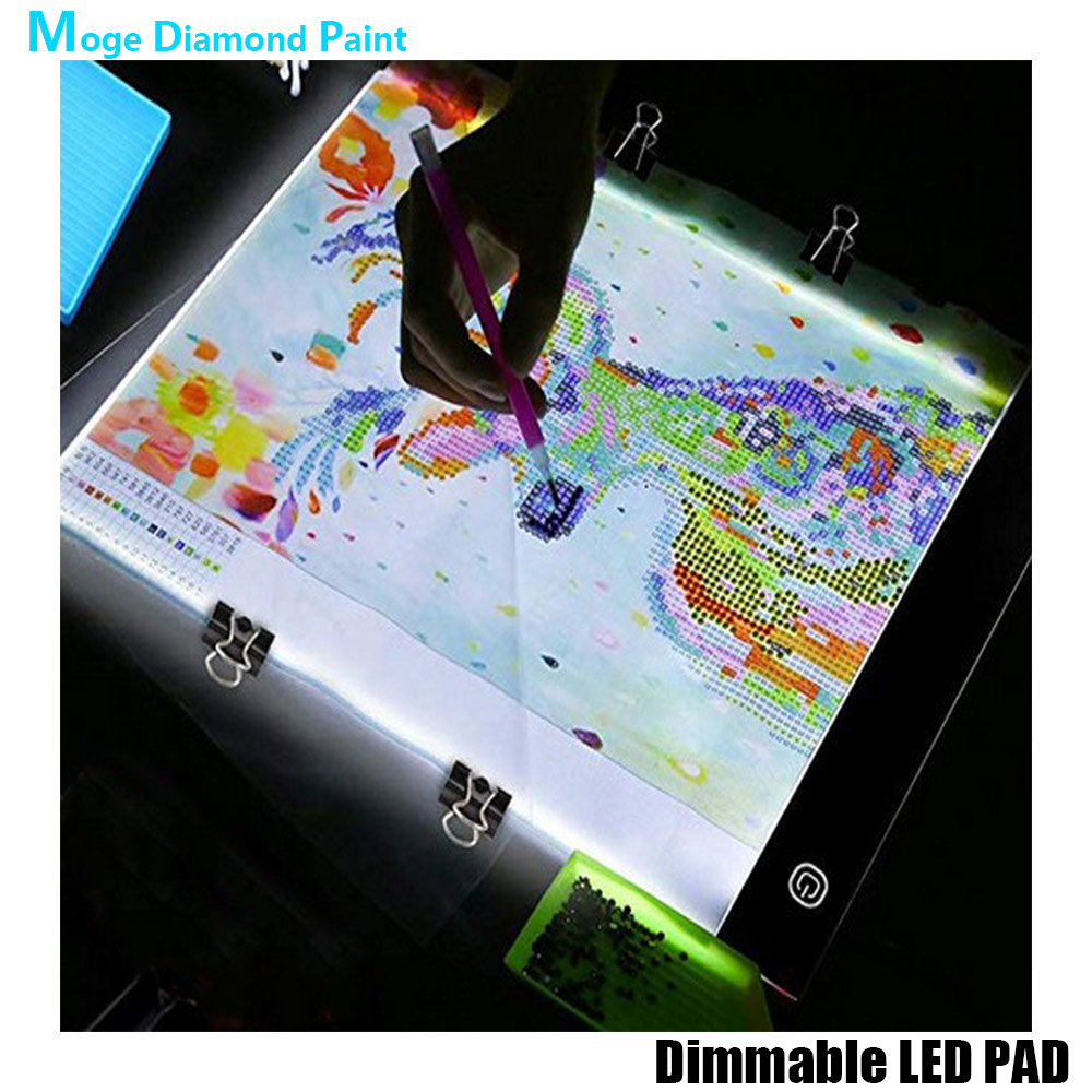DIY Combined tool lighting board Diamond Painting accessories Drawing board 3 Level Dimmable Led Light Pad luminescent plate