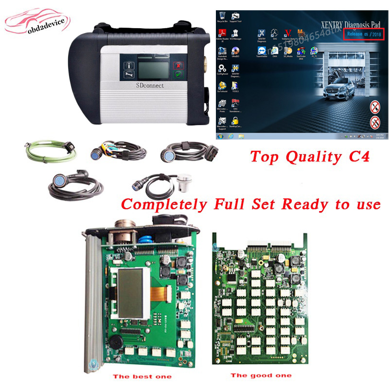 07.2018V wifi support MB Star C4 Full Set SD Connect mb sd c4 DAS/EPC/Vediamo/DTS M8 Ready to Use obd2 diagnostic scanner