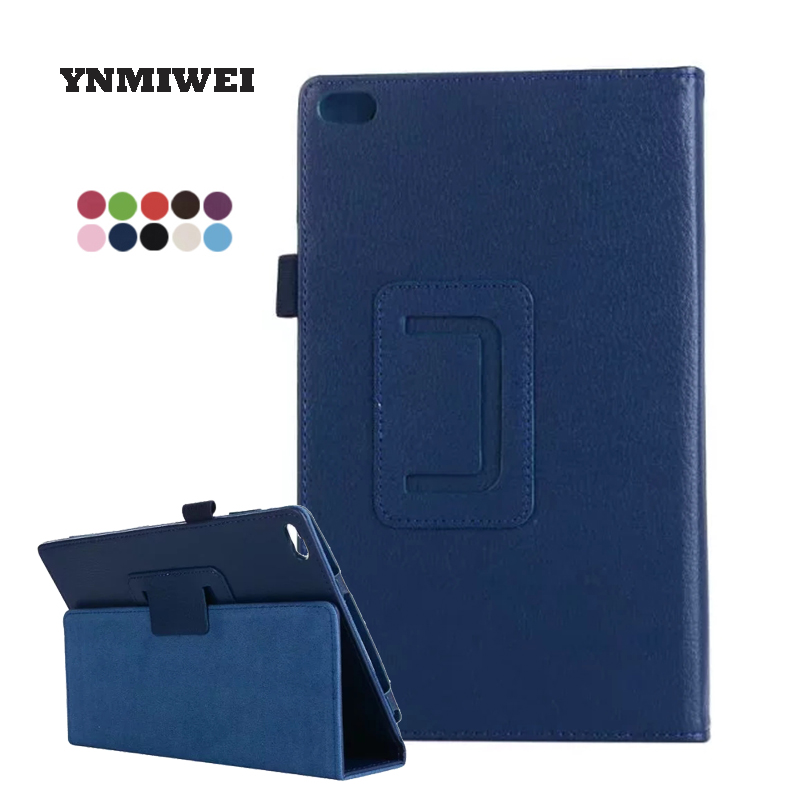 For Lenovo Tab 4 8 TB-8504N TB-8504F Lichi PU Leather Cases Tablet Protective Cover 8.0 Inches Tab4 8504 Cover Shell YNMIWEI