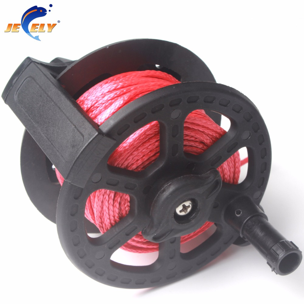 Wooden or Metal Speargun Reel With 30M 50M Spectra Line For Spearfishing
