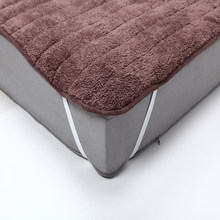 Plush Foldable Mattress bed Cover mattress cover protector With Feet Care Mattress Pad for Japanese single Bed sheet on elastic(China)