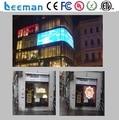 Leeman 2016 xxx Glass window curtain led display / PC material transparent screens