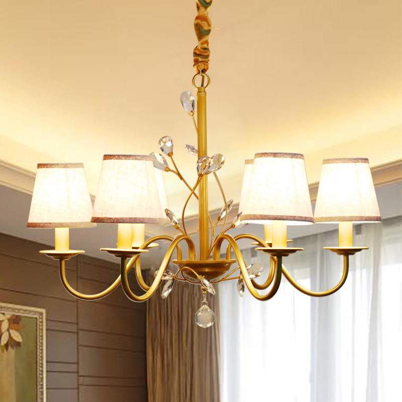 American chandelier fabric wrought iron chandelier LED creative American lighting restaurant study bedroom chandeliersAmerican chandelier fabric wrought iron chandelier LED creative American lighting restaurant study bedroom chandeliers