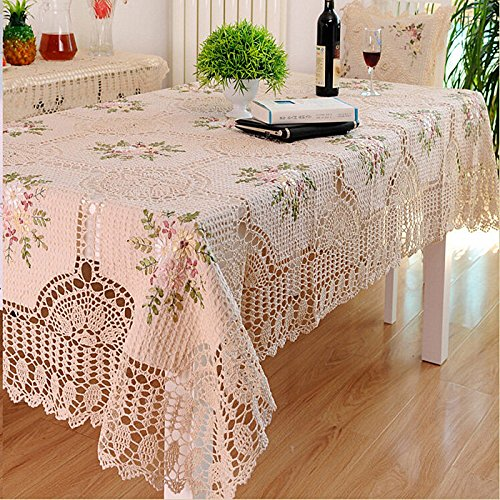 Attrayant FADFAY Handmade Tablecloths Hand Crochet Dining Table Cloth Embroidery  Floral Rectangle Tea Table Cloth Table Cover