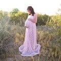 Grávidas vestidos de maternidade rendas dress mangas compridas tamanho gravidez gravidez roupas xxxl longo dress para fotografia de maternidade