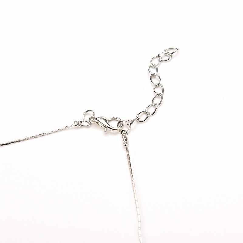 1pc Sliver łańcuszek z krzyżykami naszyjnik dla kobiet mężczyzn w stylu Vintage naszyjnik ze stali nierdzewnej biżuteria prezent