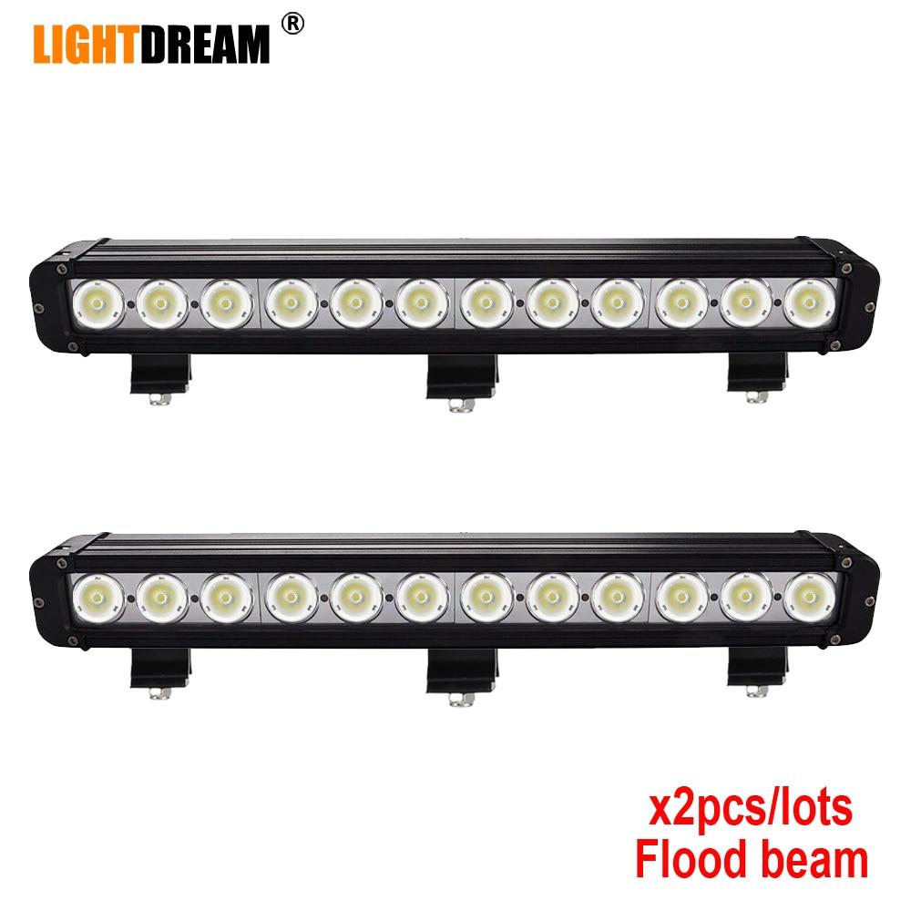 Pair 20 inch 120W Single Row Off road LED Light Bar 20W 40W 60W 100W 120W 180W 240W 260W LED Work Light Bar