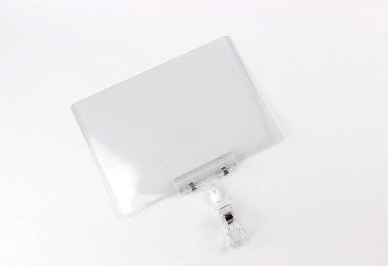 Vinyl Pouch POP Clip Sign Holder Combo Poster Tag Card Case Label Sleeve PVC Envelope Plastic Protective Pocket Price Talker