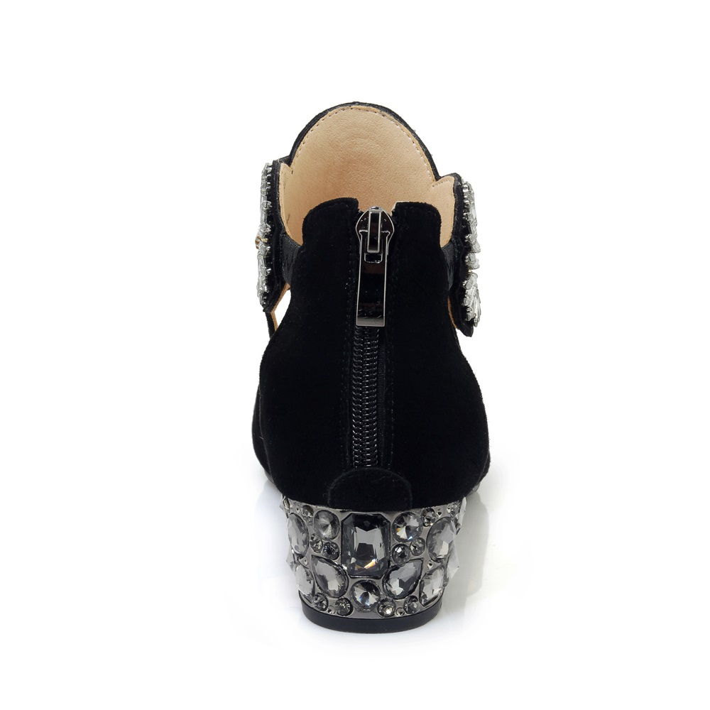 Negro Talones Cuero Caliente 40 Moda Cordón Tamaño 2018 Asumer 33 De Suede Sandalias Mujeres Verano Zapatos Rhinstone Fiesta Med Cuadrado HxSRF4