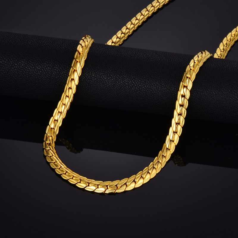 "Brand Punk Gold Snake Chain Necklace Jewelry, Wholesale Gold Chain For Men Gold Color, Mens Jewelry Chain 29"" sieraden"