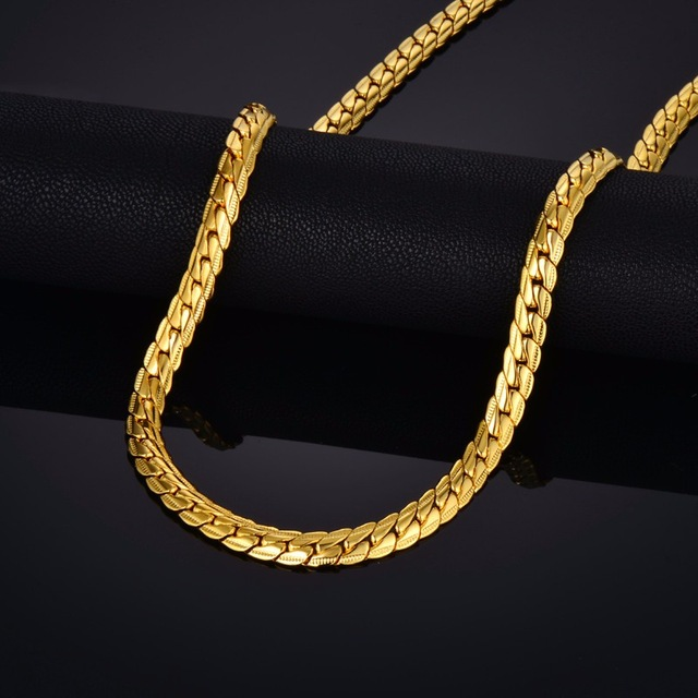Aliexpress Com Buy Brand Punk Gold Snake Chain Necklace
