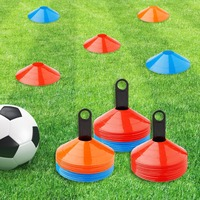 Disc Cones (Set of 50) Agility Soccer Cones with Carry Bag and Holder for Training, Football, Kids, Sports, Field Cone Markers