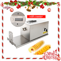Fast Delivery! ITOP Electric Twisted Potato Cutter, Stainless Steel Potato Slicer, High Quality French Fry Cutter