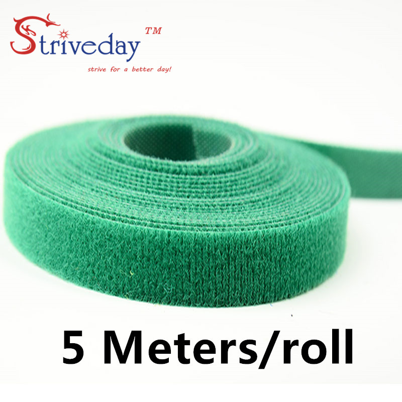 5 Meters/roll magic tape nylon cable ties Width 1.5 cm wire management cable ties 6 colors to choose from DIY