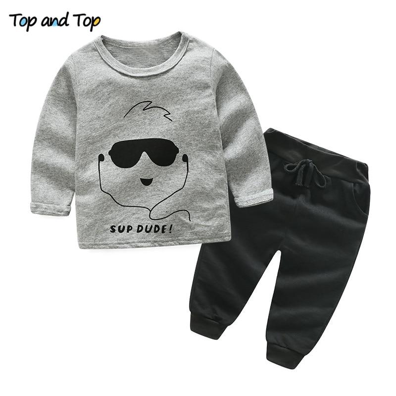 Baby T-Shirt Long-Sleeve Newborn Autumn Cotton Fashion Top And Pants