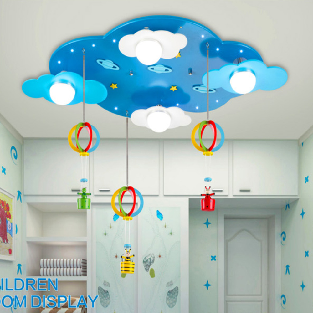 Kids bedroom ceiling lights - Acrylic Modern Led Kids Ceiling Light American Retro Style Led Ceiling Light Lamp Child Lighting Ceiling