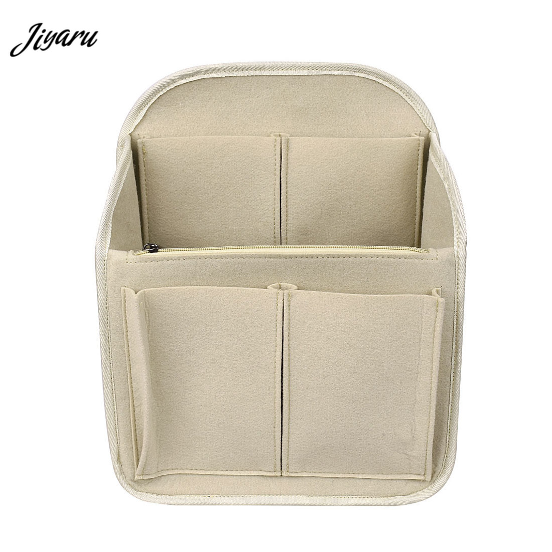 Make Up Bag Organizer Felt Insert Bag Travel Inner Purse Portable Cosmetic Bag Suitable For Handbag Organizer