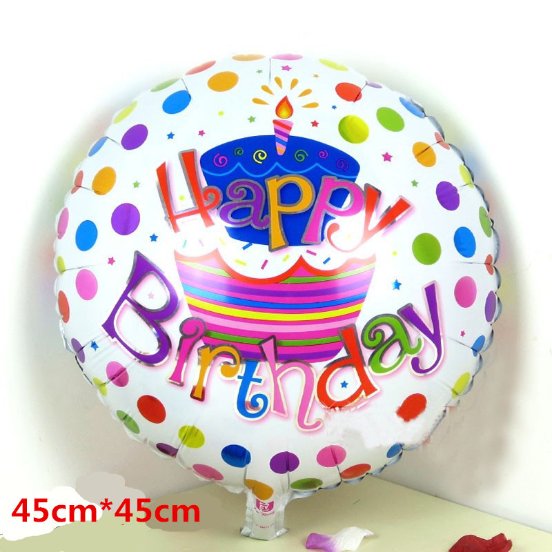 Free Shipping 10pcs Lot Aluminum Helium Balloon Party Decoration Cartoon Series Letter Happy Birthday Balloons Baby Toys In From