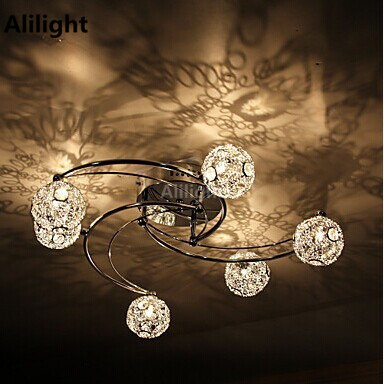60w artistic modern ceiling light with 6 lights and 6 spring globe 60w artistic modern ceiling light with 6 lights and 6 spring globe shades in windmill featureg4ac ceiling lamp flush mount in ceiling lights from lights mozeypictures Images