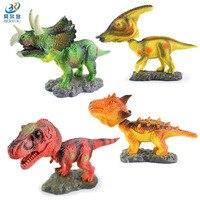 BEIERYOU 4 unids/lote Cartoon Sacudiendo/Sacudir La Cabeza Modelos de Dinosaurios Tiranosaurio Animales Juguetes para Niños Decoración del Escritorio de Regalo-45