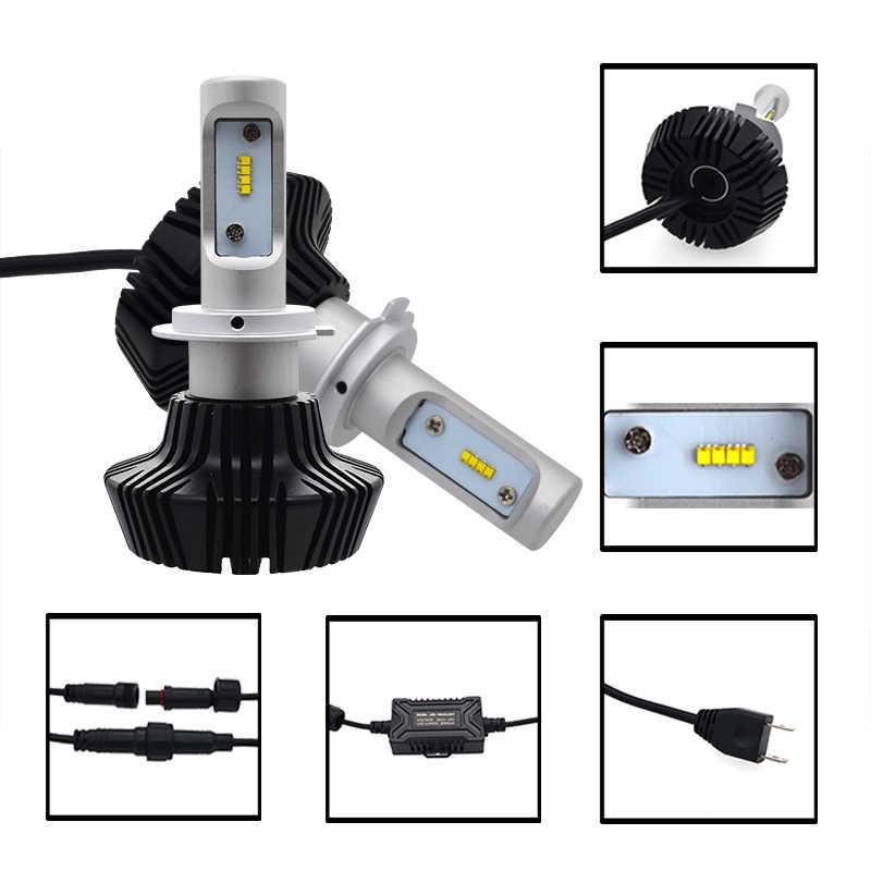 SKYJOYCE 1 Set Super Bright H7 CANBUS LED Headlight Kit 50W 8000LM 6500K H1 H3 H7 H11 9005 9006 H4 Error Free G7 LED Bulb