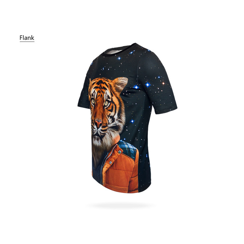 FORUDESIGNS Wholesale Fashion Men Funny 3D Print T Shirt Cool Bodybuilding Shark T shirt for Man Summer Short Sleeve Stree XXL in T Shirts from Men 39 s Clothing