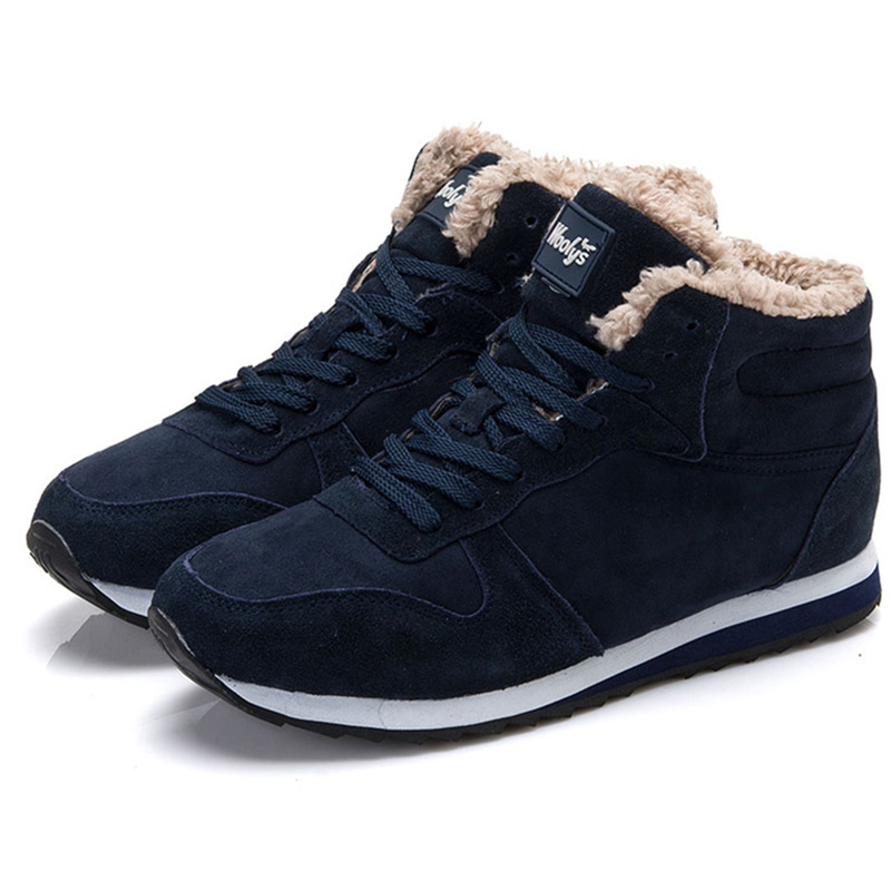 Men Boots Plus Size 35-46 Fur Winter Shoes Male 2018 Keep Warm Snow Ankle Boots Man High Quality Sneakers Botas Hombre