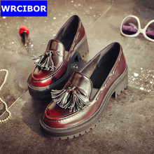 Flat Oxford Shoes Woman flats 2017 fashion Tassel Vintage British style Oxford shoes women Flat Heel Shoes Casual Women Shoes