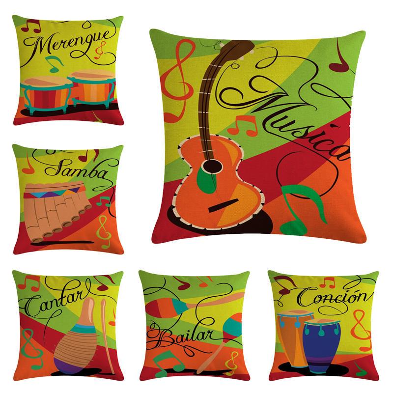 Music HomerDecor Cushion Cover Throw Pillowcase Pillow