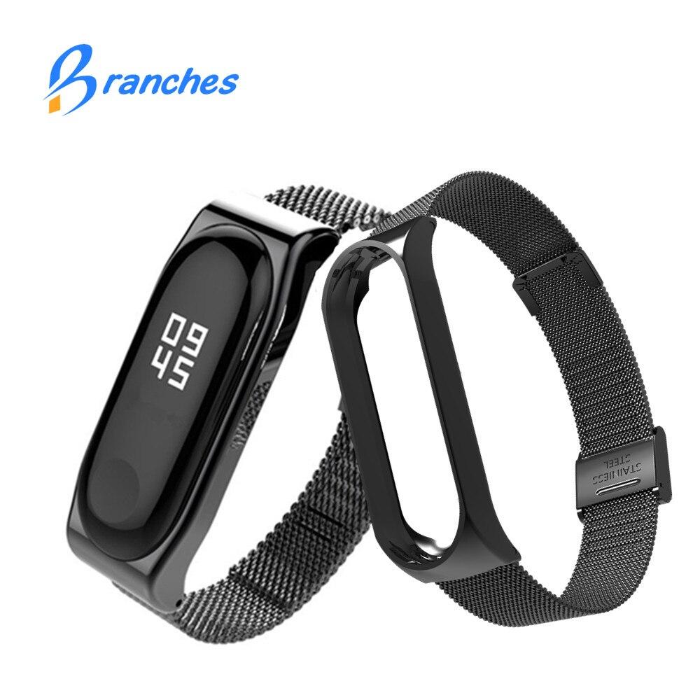 New Mi Band 3 Strap Bracelet for xiaomi Mi Band 3 wrist strap Mi band3 Smart Band Strap MiBand 3 Wristband black Metal xiami
