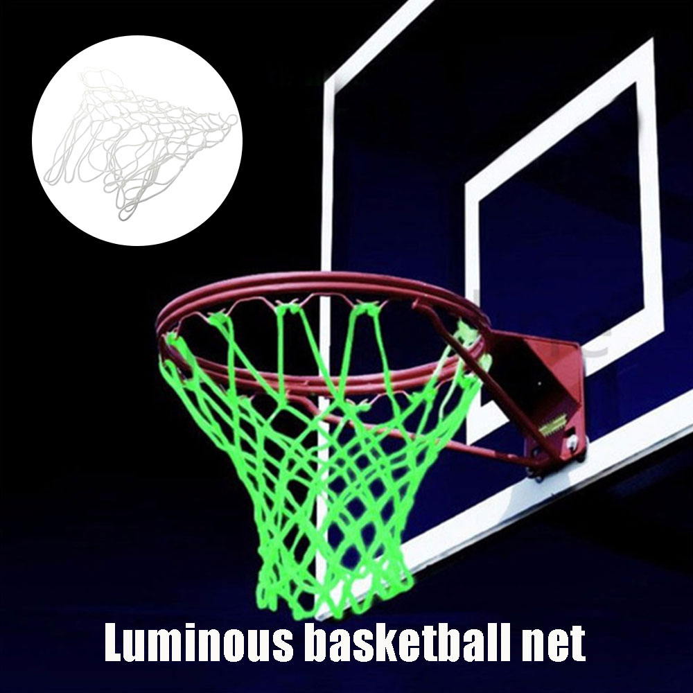 Backboard Basketball Net Luminescence Basket Net Practical Nylon White Portable Sports