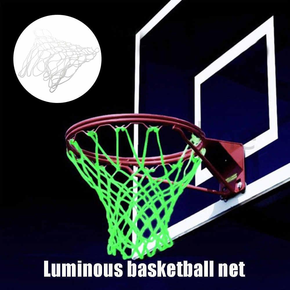 Tabela de Basquete Net Cesta de Luminescência Net Prática Nylon Branco Esportes Portáteis