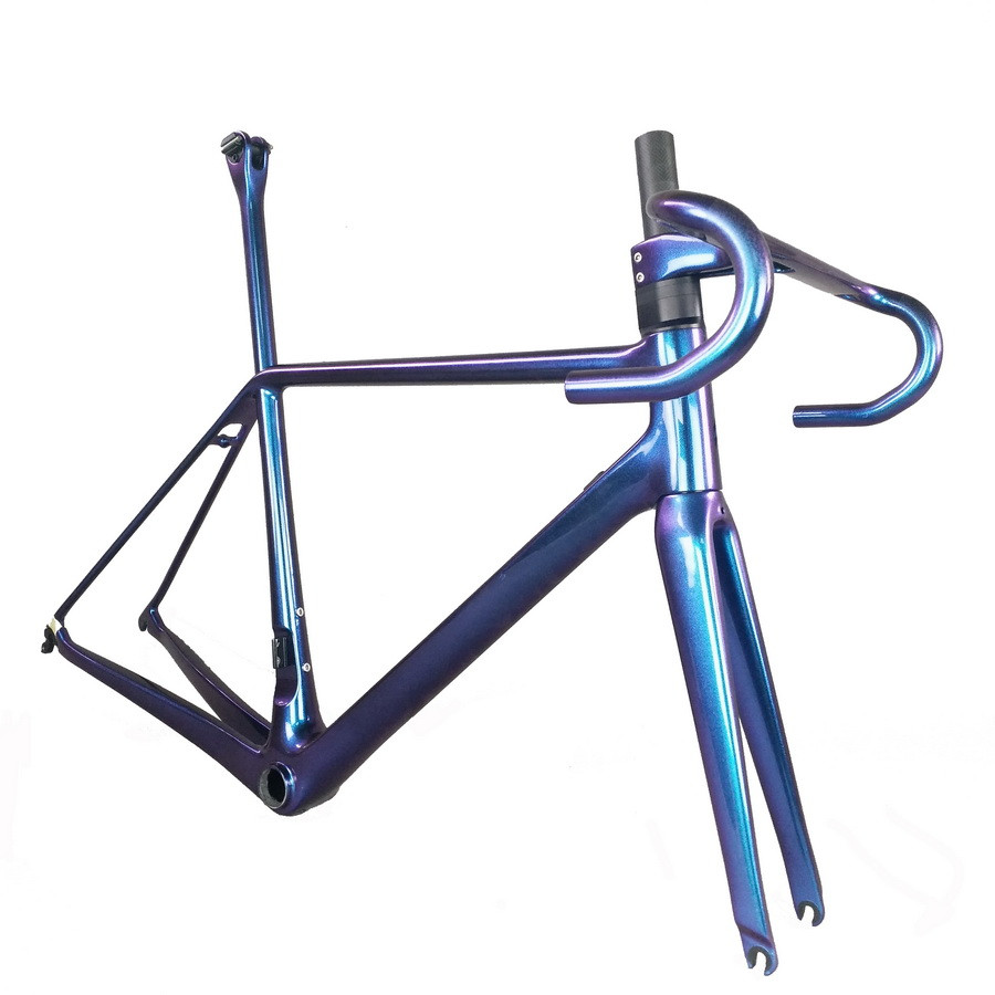 Carbon Fiber Bicycle Frame Light Weight, Toray T1000 Sales Of New Chameleon Paint Bicycle Frame FM629