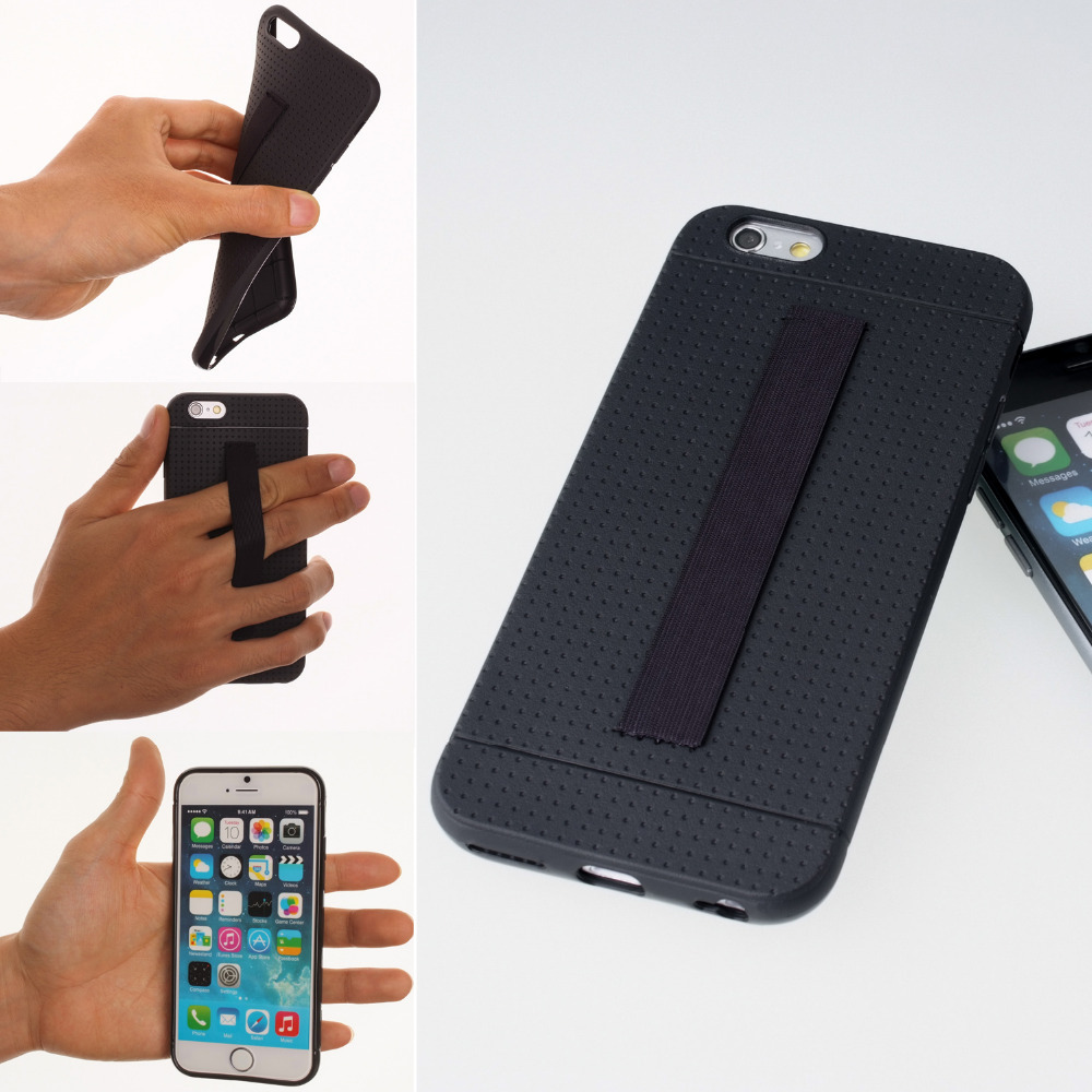 TFY Case Cover with Hand Strap Holder for iPhone 6 / 6S / iPhone 6 Plus / 6S Plus / iPhone 7