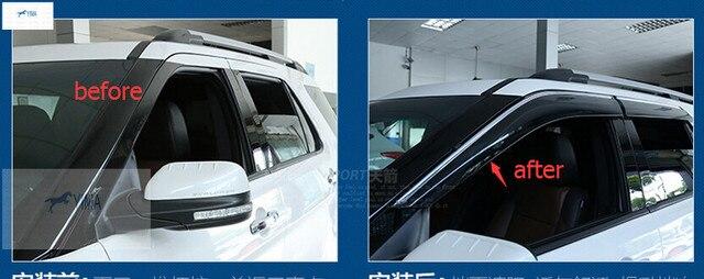 For Ford Explorer 2016 Window Visors Awnings Wind Rain Shield Deflector Visor Guard Vent 4 Pcs / Set