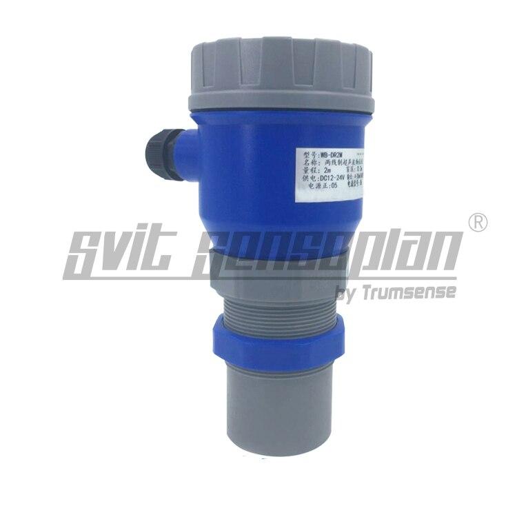 Capteur ultrasonique d'affichage de LED de mètre de niveau de haute précision gamme de 20 m 12 à 24 V puissance 4 à 20mA sortie