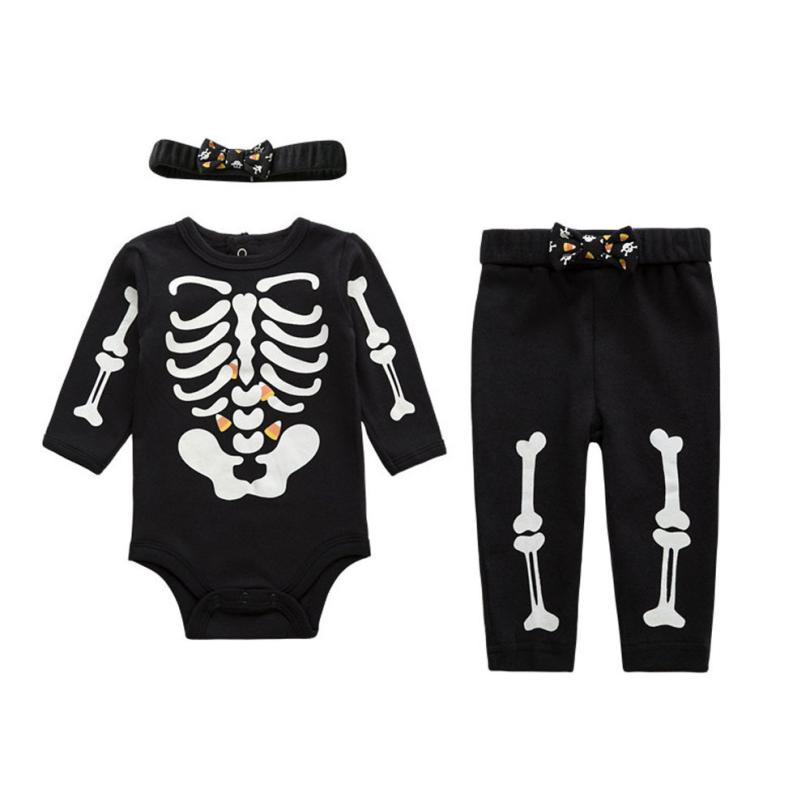 Hot sale funny baby clothes Baby Kid Toddlers Boys Clothes Print Romper+Long Pants+Hair Band 3pcs Outfit Set cute body infantil