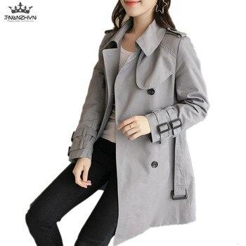 TNLNZHYN autumn new Women clothing Windbreaker overcoat Fashion loose Big yards long-sleeved female high-end trench coat QW15