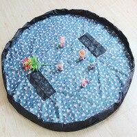 נייד ילדים צעצועי אחסון שקיות ילדים לשחק מחצלת עבור לגו צעצועי ארגונית תיבות סל חיצוני פיקניק קרקע מחצלת צעצוע אחסון תי