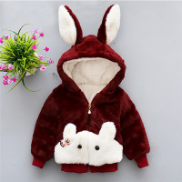 Fashion Baby Girls Cute Coats 2017 New Arrival Cotton Animal Mixed Colors Zip Coats Animal Rabbit
