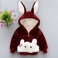 Fashion Baby Girls Cute Coats 2017 New Arrival Cotton Animal Mixed Colors Zip Coats Animal Rabbit
