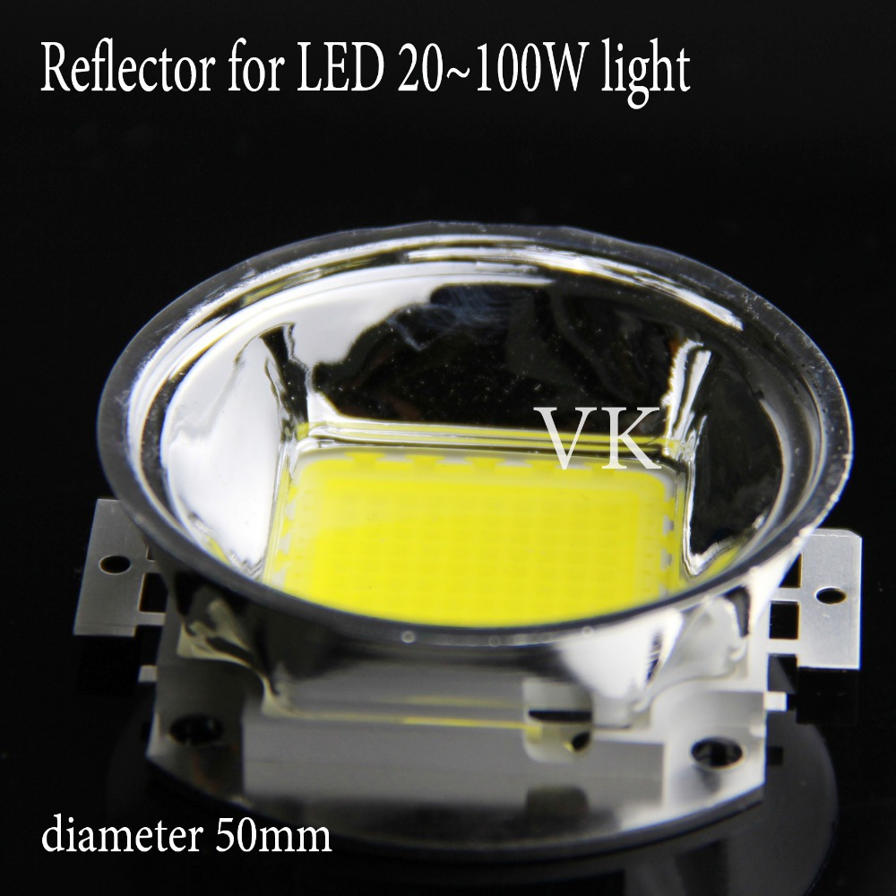 5pcs 60 Degree Led Lens Reflector Cup 50mm Base Plus