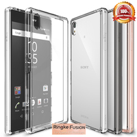 100 Original Ringke Fusion Case For Xperia Z5 Compact Premium Clear Hard Back Cover For Sony