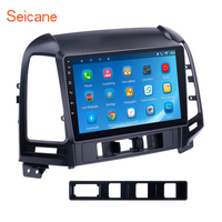 Seicane Android 6.0 Quad Core Radio GPS Navigation Car Audio Unit Player for 2005 2012 HYUNDAI SANTA FE support Backup Camera