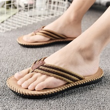 2019 new summer mens slippers comfortable pinch non-slip rubber soles beach sandals fashion