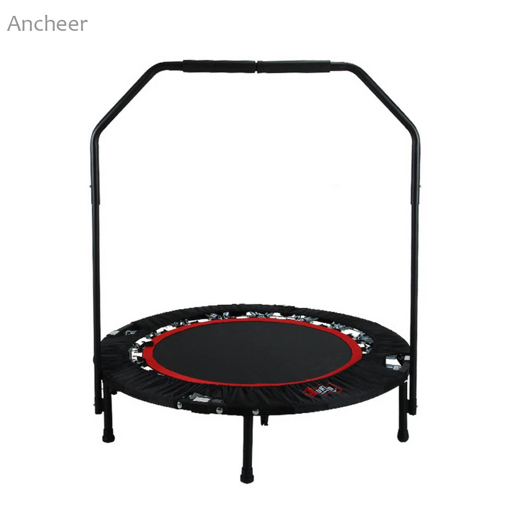 Ancheer newest Folding <font><b>Trampoline</b></font> 102cm/ 39.8 inch with Safety Pad Unisex <font><b>Trampoline</b></font> Black